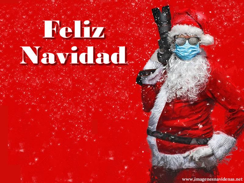 Papá Noel con Mascarilla